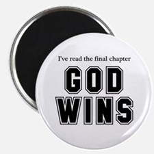 "God Wins 2.25"" Magnet (10 pack)"