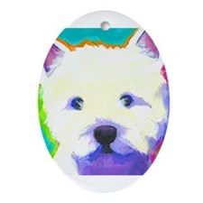 Westie Ornament (Oval)