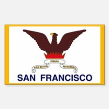 San Francisco Flag Rectangle Decal