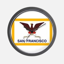 San Francisco Flag Wall Clock