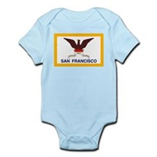 San Francisco Flag Infant Creeper