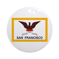 San Francisco Flag Ornament (Round)