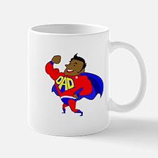 fathers day black super dad Mugs