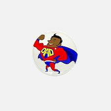 fathers day black super dad Mini Button