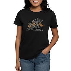 Butterfly Swarm Women's Black T-Shirt