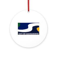 Sacramento Flag Ornament (Round)