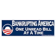 Obama is Bankrupting America Bumper Sticker