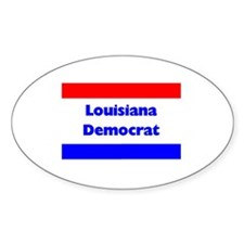 Louisiana Democrat Oval Decal