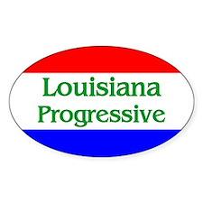 Louisiana Progressive Oval Decal