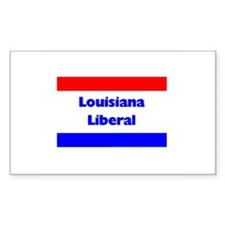 Louisiana Liberal Rectangle Decal