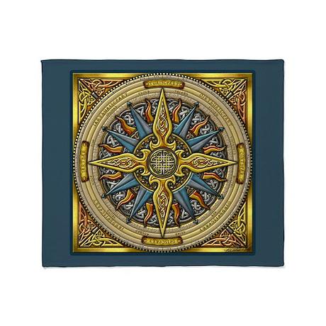 Celtic Compass Throw Blanket