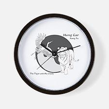 Hung Gar Kung Fu Logo Wall Clock
