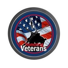 Honoring Veterans Wall Clock