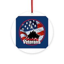 Honoring Veterans Ornament (Round)