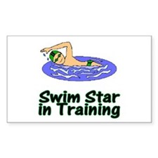 Swim Star in Training Christopher Sticker (Rectang