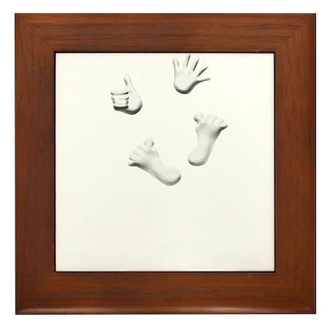 Thumbs Up Maternity Framed Tile