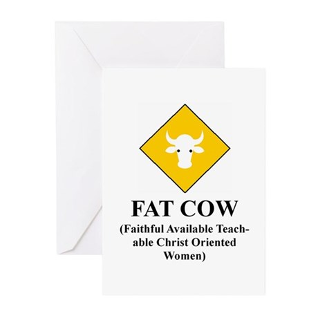FAT COW Greeting Cards (Pk of 10)