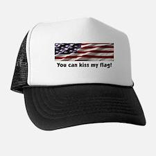 Morton Downey Jr. Kiss My Flag Trucker Hat