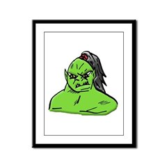 The Green Guy Framed Panel Print