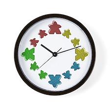 Meeples Wall Clock