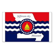 Jefferson City Flag Rectangle Decal