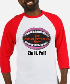 Morton Downey Jr. Zip It Logo Baseball Jersey