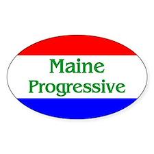 Maine Progressive Oval Decal