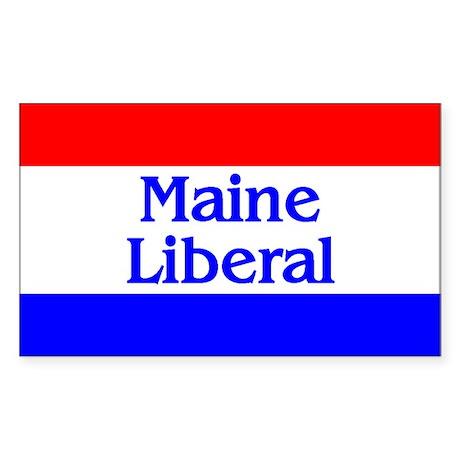 Maine Liberal Rectangle Sticker