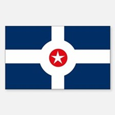 Indianapolis Flag Rectangle Decal