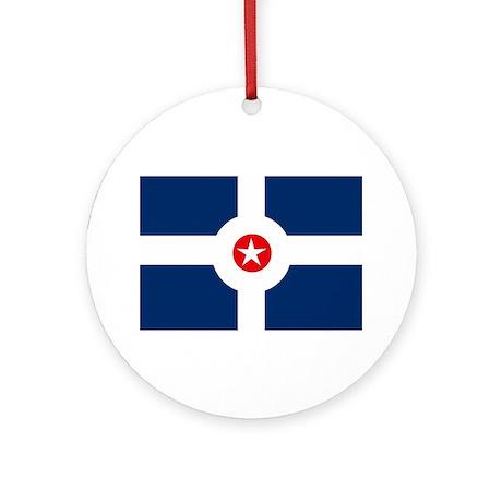 Indianapolis Flag Ornament (Round)
