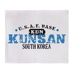 Kunsan Air Force Base Throw Blanket