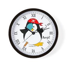 Pirate Penguin Wall Clock