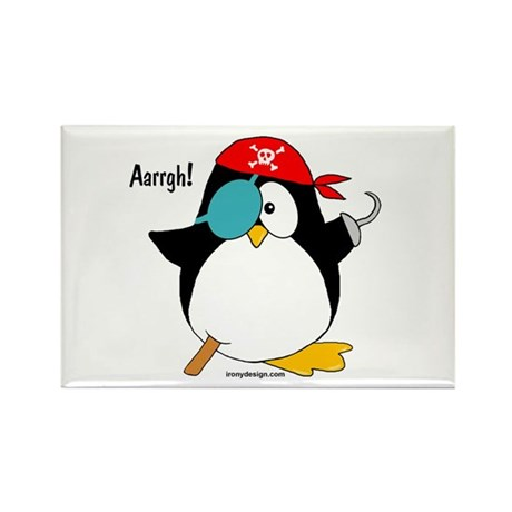 Pirate Penguin Rectangle Magnet (10 pack)