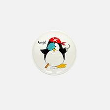 Pirate Penguin Mini Button (10 pack)