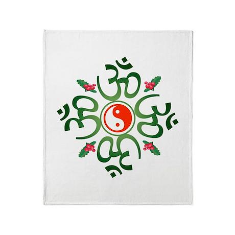 Zen Christmas Throw Blanket