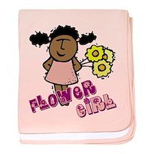 Ethnic Flower Girl baby blanket