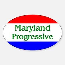 Maryland Progressive Oval Decal