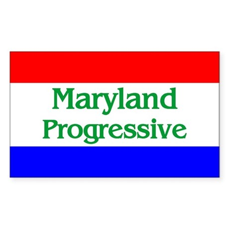 Maryland Progressive Rectangle Sticker