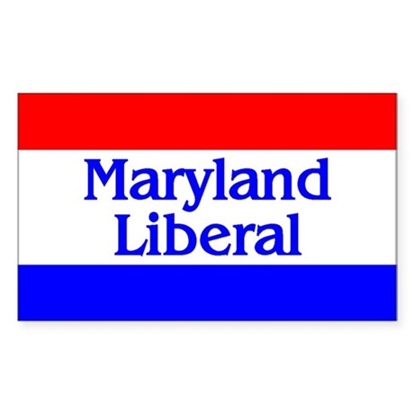 Maryland Liberal Rectangle Sticker