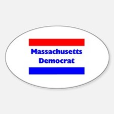 Massachusetts Democrat Oval Decal