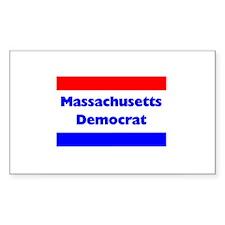 Massachusetts Democrat Rectangle Decal
