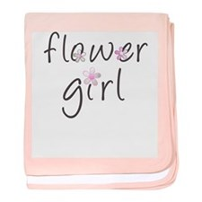 Sweet Flower Girl baby blanket