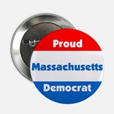 Massachusetts Proud Democrat Button