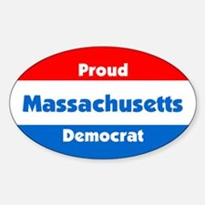 Proud Massachusetts Democrat Oval Decal