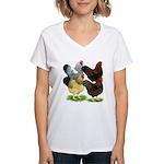 Wyandotte Rooster Assortment Women's V-Neck T-Shir