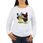 Wyandotte Rooster Assortment Women's Long Sleeve T
