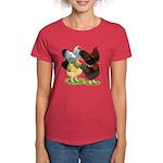Wyandotte Rooster Assortment Women's Dark T-Shirt