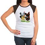 Wyandotte Rooster Assortment Women's Cap Sleeve T-