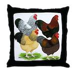 Wyandotte Rooster Assortment Throw Pillow