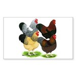 Wyandotte Rooster Assortment Sticker (Rectangle 50